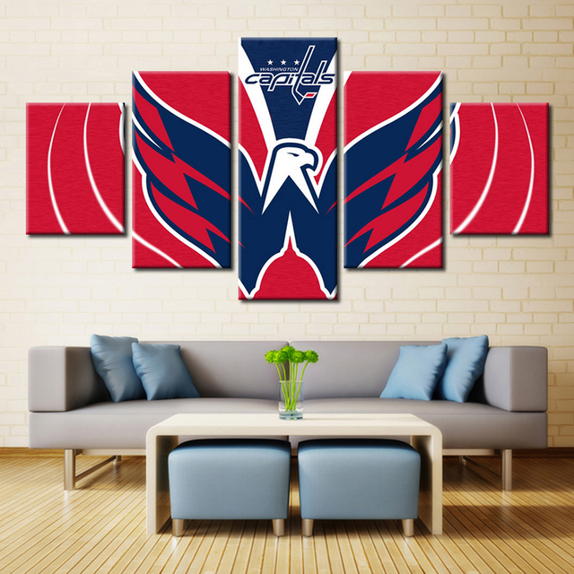 91d96edfc32 New Arrival NHL Ice Hockey Washington Capitals Sport Team Wall Art for Home  Decor Oil Painting Canvas Waterproof Eagle