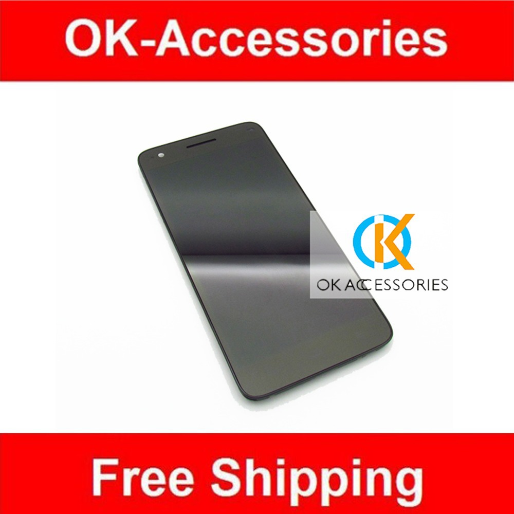ФОТО Black 1PC/Lot New Replacement For ZTE Grand S V988 LCD Display+Touch Screen Digitizer+Frame Assembly Over 10PCS Free DHL EMS