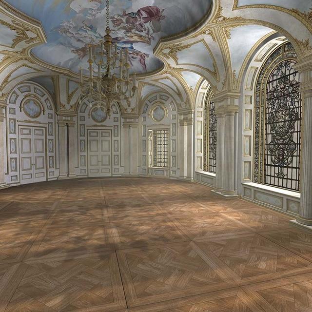 Luxury Vintage Castle Vinyl Cloth Chandelier Indoor