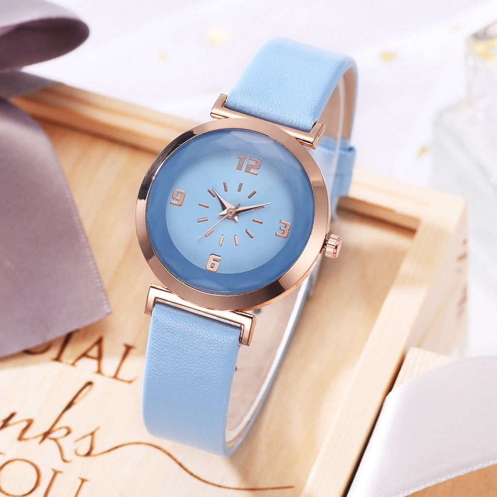 New Fashion Simple Ladies Multicolor Leather Belt Ladies Watch Quartz Watch Women Watches Dress Watch Party Decoration Gifts G