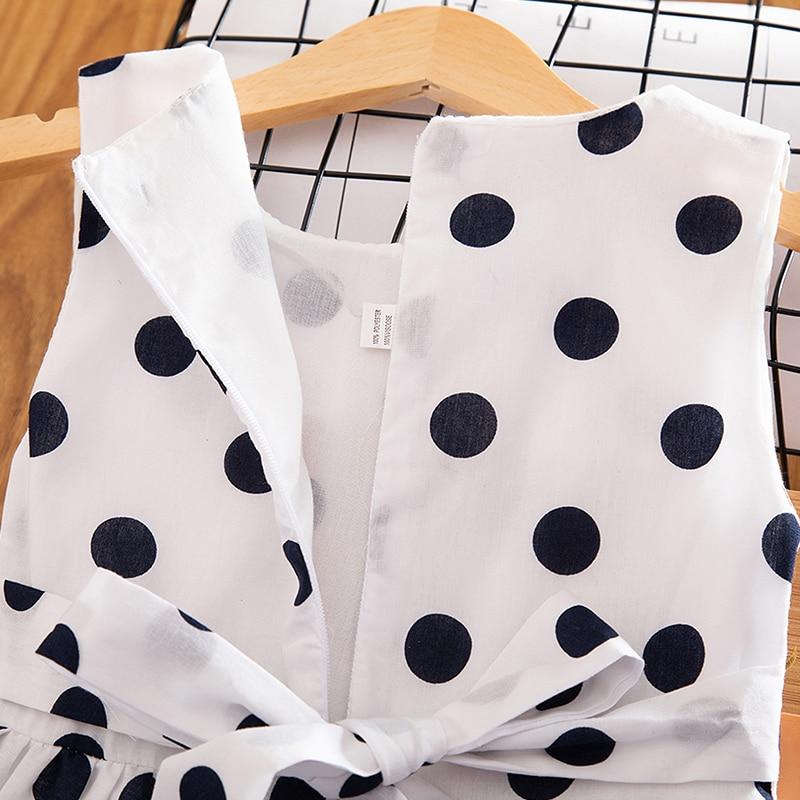 3-12 Years Girls Polka-Dot Dress 2019 Summer Sleeveless Bow Ball Gown Clothing Kids Baby Princess Dresses Children Clothes