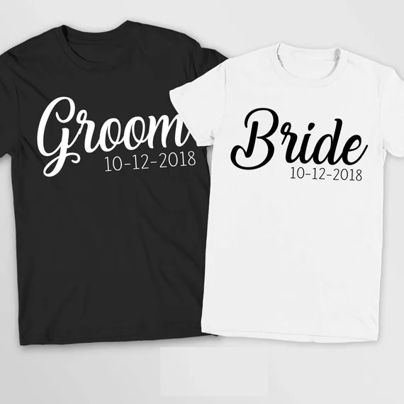 def3b70b49a31 US $17.22 10% OFF|personalized Wedding Mr and Mrs T Shirts Bride Groom T  Shirt Honeymoon Valentines Day Gifts Marriage TShirt tanks tops tees-in  Party ...