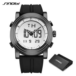 Image 2 - SINOBI sportowe cyfrowe zegarki męskie chronograf męskie zegarki wodoodporne czarne Watchband męskie wojskowe genewa kwarcowy zegar