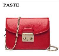 PASTE 2017 New Fashion Female Bag First Layer Of Leather Portable Messenger Shoulder Bag Mini Bag