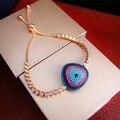Yoge b6582 lujo micro pave configuración aaa piedras multicolores estilo turco mal de ojo pulsera, impresionante joyería accesorios