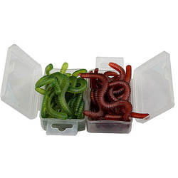 Miękkie Earthworm 1 box Fishing przynęty robak przynęty Bionic sztuczne smak Crankbaits Swimbait przynęty Tackle  czerwony  zielony  wszystkie słodkowodne w Przynęty od Sport i rozrywka na