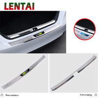LENTAI Auto Car Styling Stainless Steel Exterior Rear Trunk Door Strips Stickers For Toyota Camry XV70 2017 2018 Accessories
