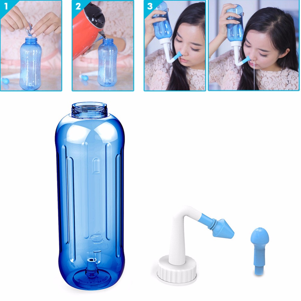 Adults Children Nasal Wash Cleaner Nose Protector Cleans Moistens Child Adult Avoid Allergic Rhinitis Neti Pot 500ml