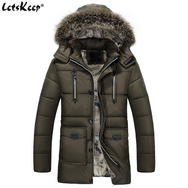 New 2017 Letskeep fur hooded parka men thick long warm winter ...