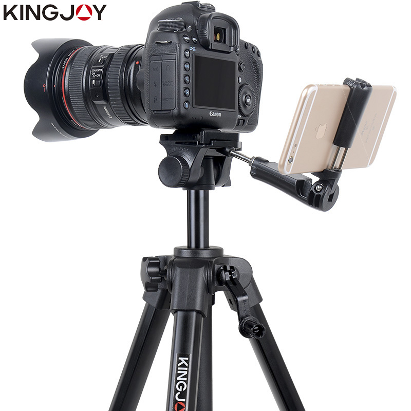 Tüketici Elektroniği'ten Üç Ayaklar'de KINGJOY Resmi VT 930 kamera tripodu Standı Profesyonel Alaşım Rocker Kolu Ile Tüm Modeller Için Esnek Taşınabilir Stativ Tutucu title=