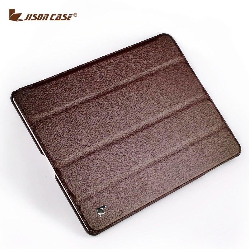 Jisoncase para ipad 4 3 2 ipad caso Flip Folio Cover Tablet diseñador Ultra delgado de cuero y ipad 9,7 caso