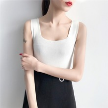 Summer Sexy Tank Tops Casual Crop Tops Women Fashion Knitting Sleeveless Tops Shirt sexy midriff baring tops