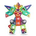 72 pcs Magnetic Designer Para Crianças Blocos 3D Modelo & Construção Crianças Plástico Tijolos de Construção Brinquedos Educativos Para Crianças