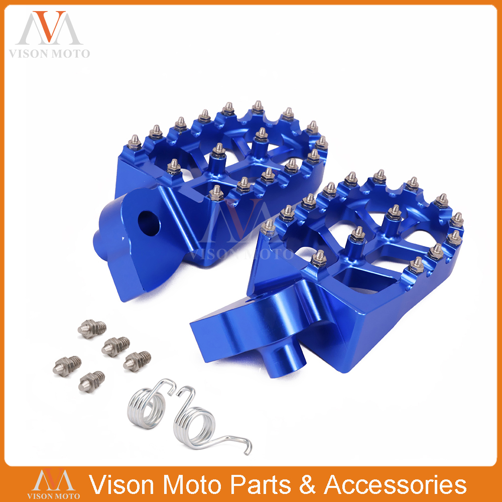Billet Foot Pegs Rests Pedals For YZ 85 125 250 YZ250F YZ426F YZ450F YZ125X YZ250X YZ250FX YZ450FX WR250F WR400F WR426F WR450F пылесборник синтетика 1054314