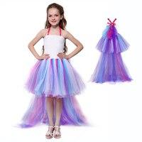 Girls Surprise Dolls Pattern Tutu Party Dresses Kids Pony Unicorn Lol Cosplay Costume Fairy Tail Princess Dress Teen Clothes 12Y