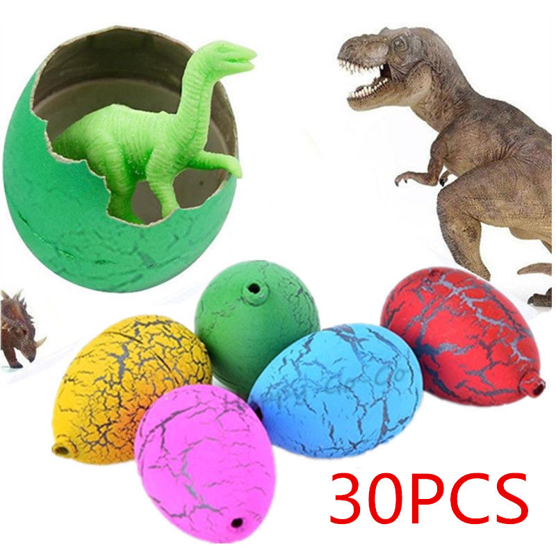 30x Child Magic Growing Dino Eggs Hatching Dinosaur Add Water Inflatable Kids Toy Color Random Educational Toys ...