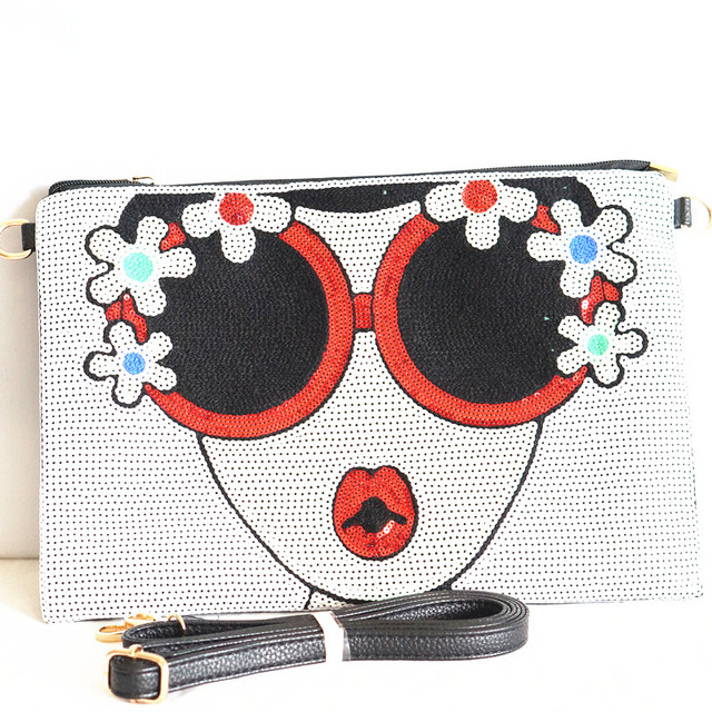 Women's new Bright Character clutch Bag 1