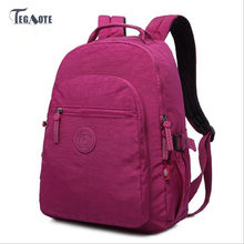 TEGAOTE 2019 Backpack for Teenage Girls Feminine Backpack Casual Kipled Nylon Backpacks Women Waterproof Schoolbag Sac A Dos bag(China)