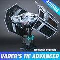 Lepin 05055 Serie Star El Rogue Uno USC Vader TIE Avanzado Juego de Combate 10175 Bloques de Construcción Ladrillos de Juguetes Educativos