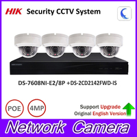 Original Hik Security Camera System 1080P 8POE DS 7608NI E2 8P 4MP IP Camera DS 2CD2142FWD