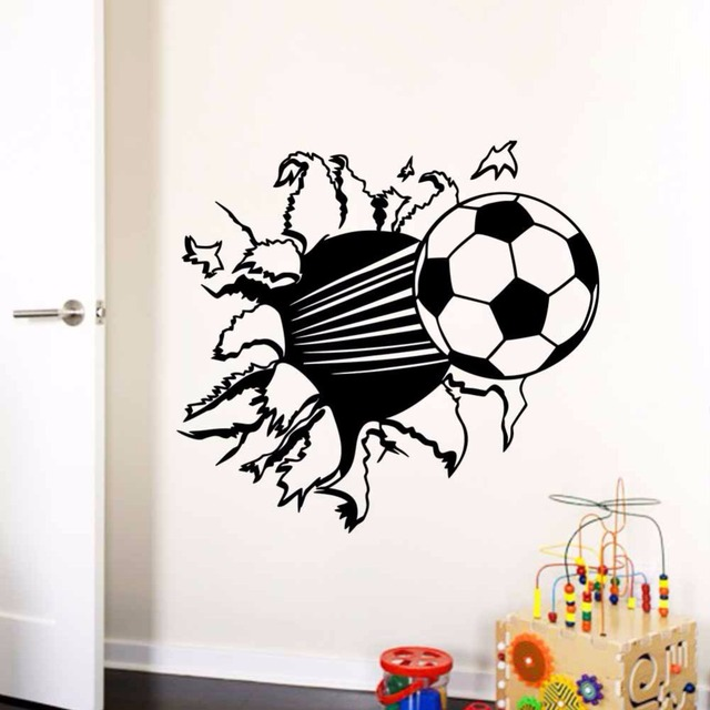 Soccer Ball Football Decorative Vinyl Wall Stickers For Kids Rooms ...