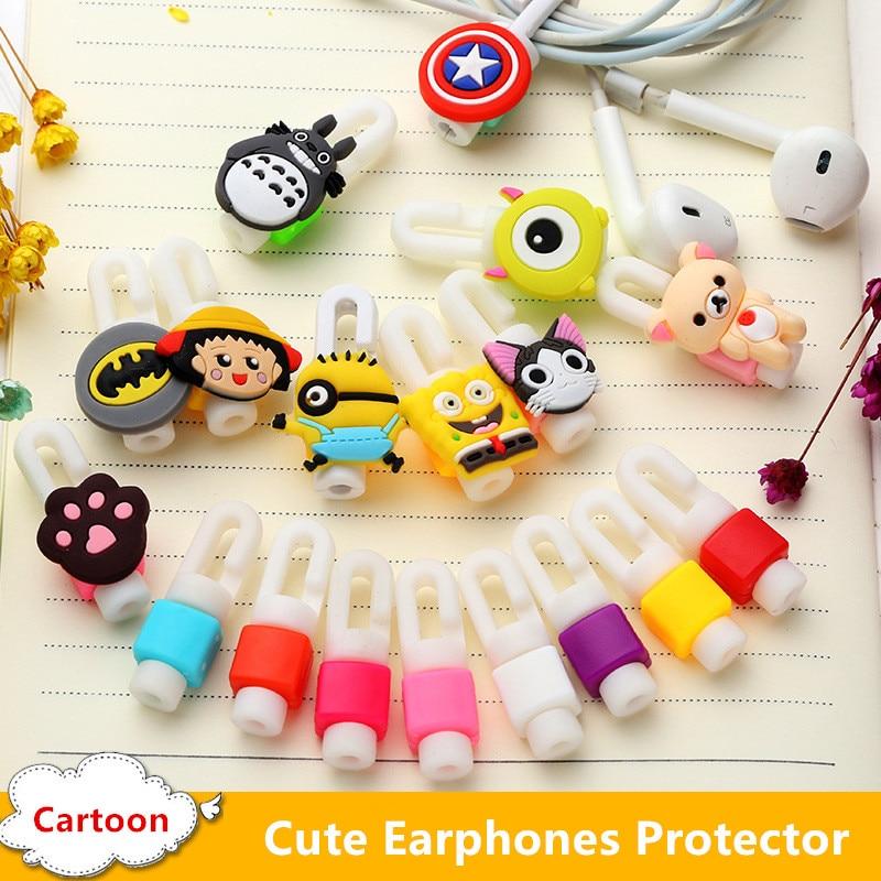 Cartoon Cute Headphone Earphone font b Cable b font Protector Cord Protection font b Cable b
