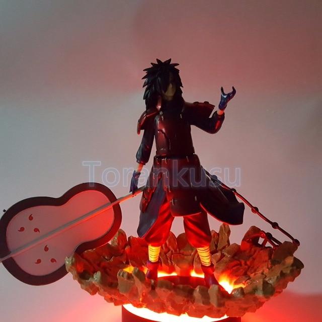 US $24 27 15% OFF|Naruto Action Figure Madara Led Light Rock Base DIY  Display Toy Anime Uzumaki Naruto Shippuden Figurine Uchiha Madara DIY94-in