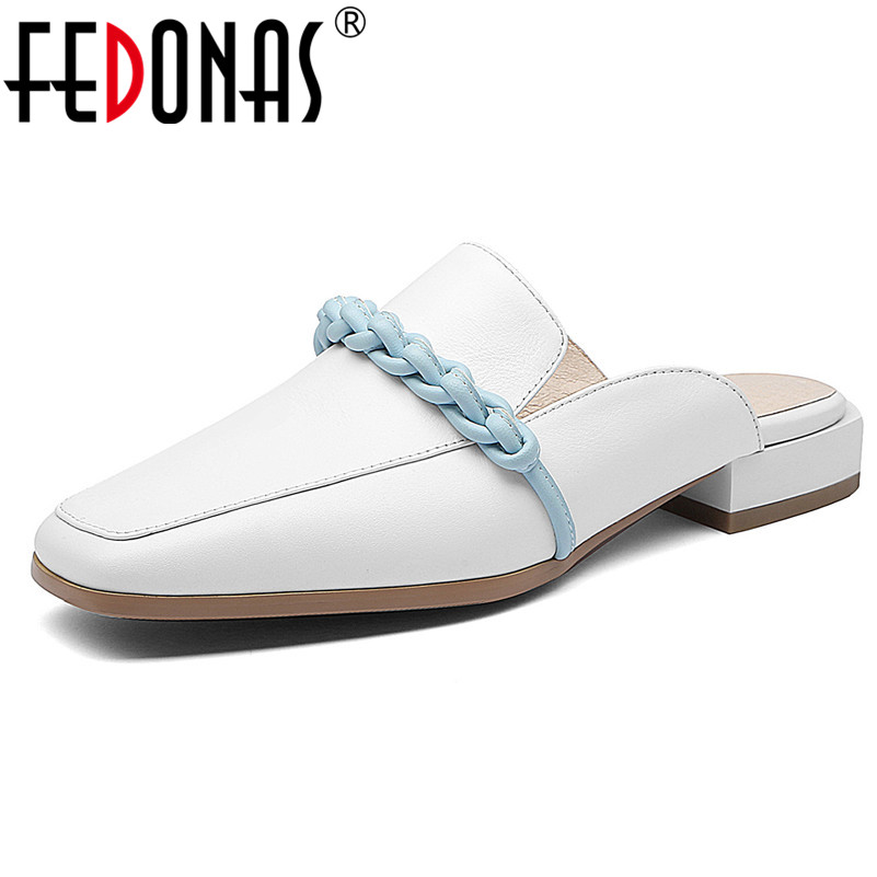 FEDONAS Women Casual Shoes Genuine Leather Rome Pumps Solid Color Concise Low Heels New Brand Design Party Working Shoes WomanFEDONAS Women Casual Shoes Genuine Leather Rome Pumps Solid Color Concise Low Heels New Brand Design Party Working Shoes Woman