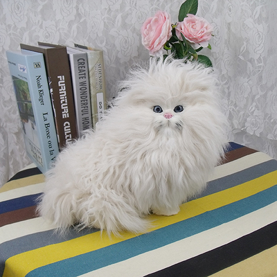 simulation cute white Persian cat 28x18x21cm model polyethylene&furs cat model home decoration props ,model gift d699 large 21x27 cm simulation sleeping cat model toy lifelike prone cat model home decoration gift t173