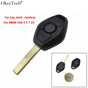 Okeytech 3 Buttons Remote Key Case For BMW 3 5 7 SERIES Z4 X3 X5 M5 325i E38 E39 E46 High Quality Full Repair Kit With Battery image