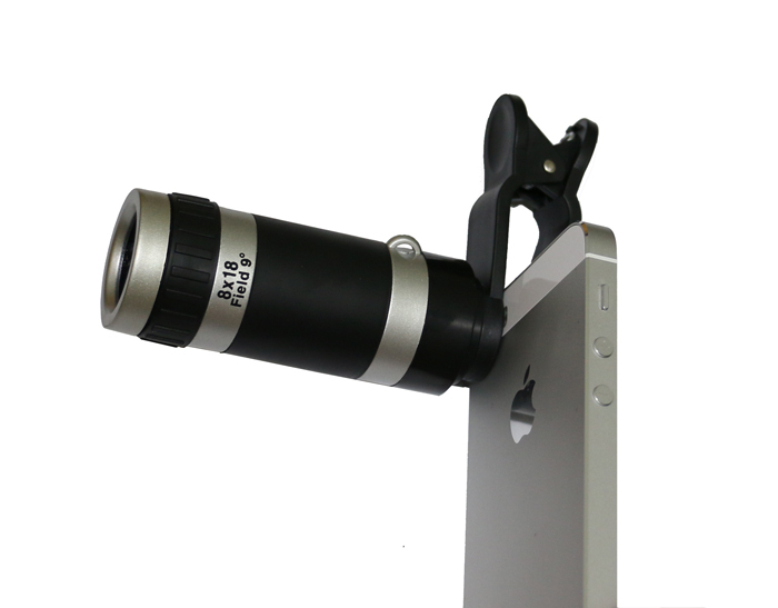 Universal 8x zoom optical lens mobile phone telescope clip lens for