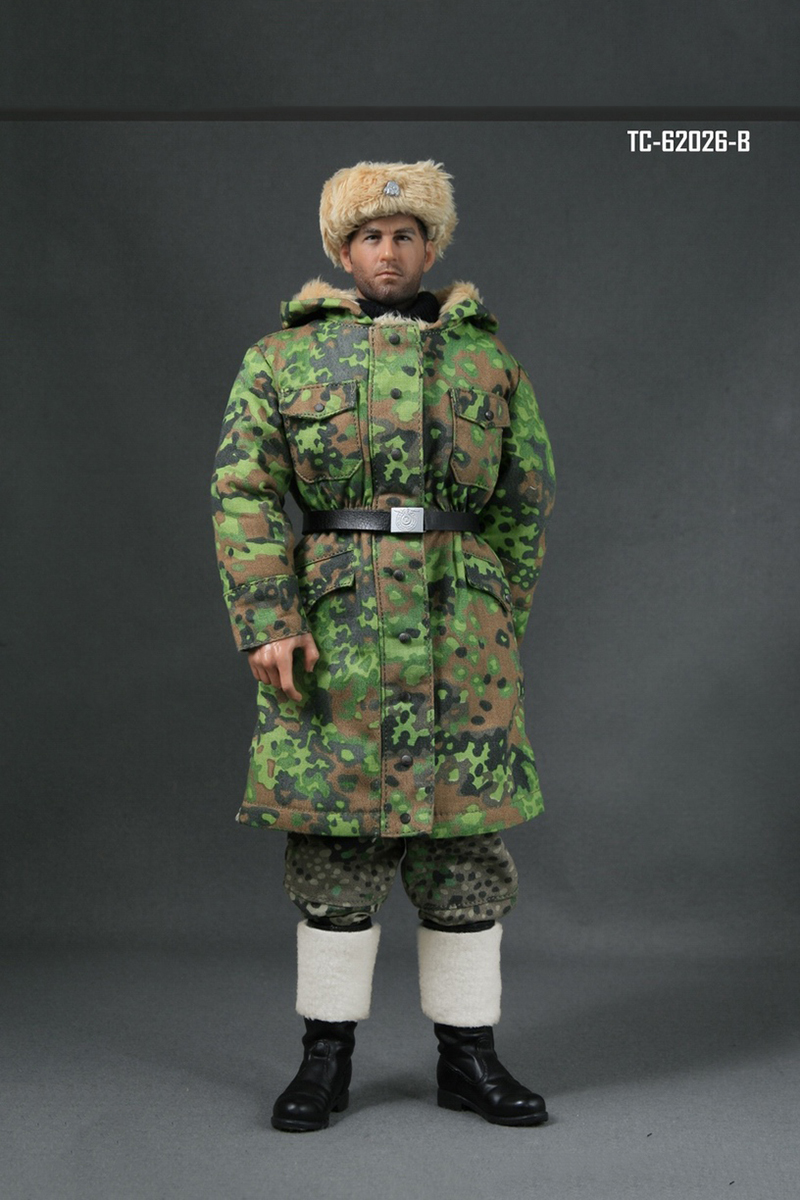 1/6 Scale WWII German Soldier Uniforms Winter Clothes Models for 12 inches Action Figure фигурка planet of the apes action figure classic gorilla soldier 2 pack 18 см