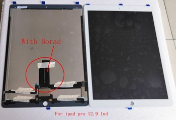 Ipad Pro 12.9 için 1nd A1652 A1584 Lcd ekran + dokunmatik cam sayısallaştırıcı kurulu flex kablo birlikte tam seti