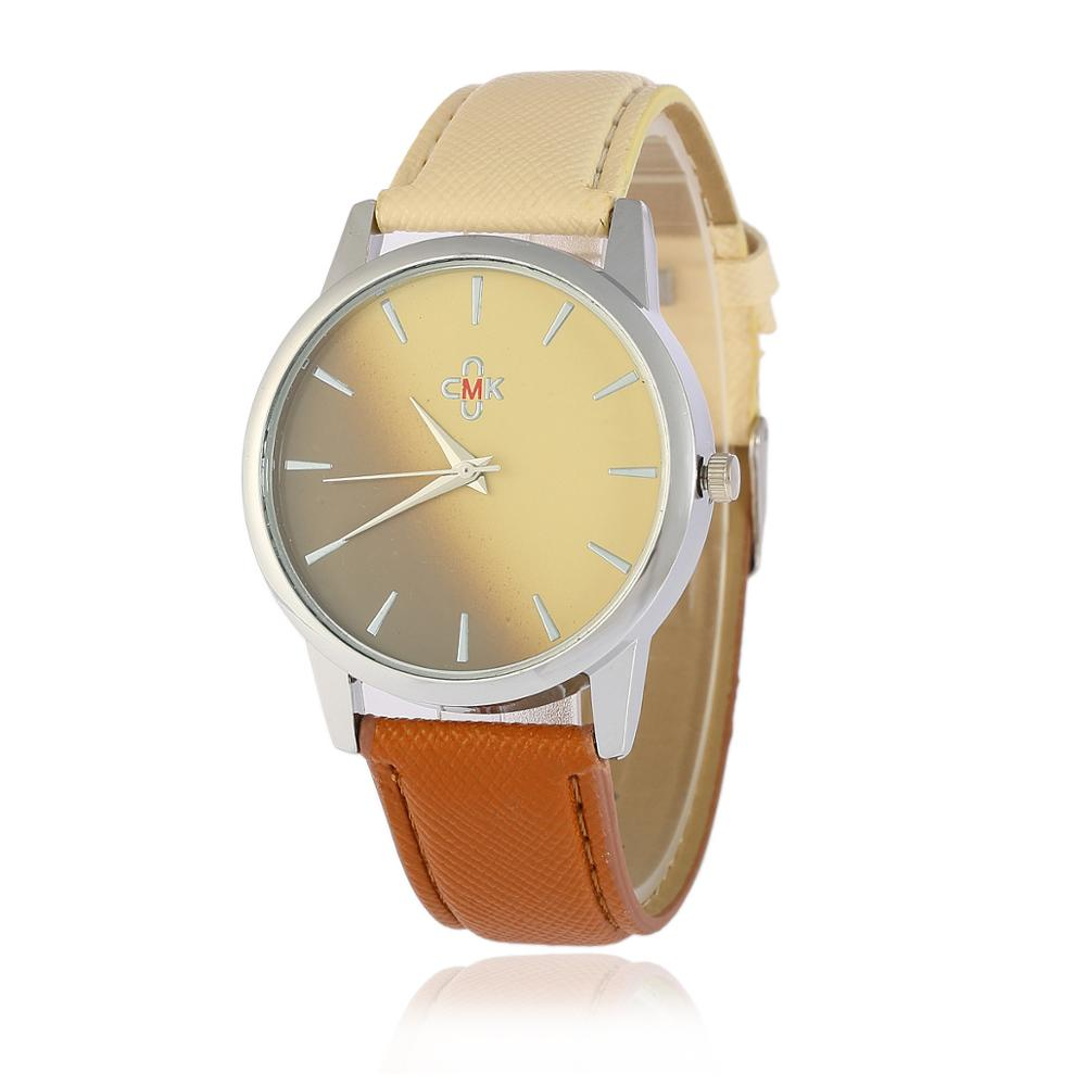 OKTIME 2018 New Women Retro Gradient Rainbow Leather Watch Casual Ladies Quartz watch Luxury WristWatch Relogio Feminino Hot in Women 39 s Watches from Watches