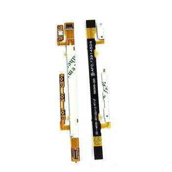 1 Uds. Botón de encendido/apagado Original y botones de abajo arriba/abajo Flex piezas de cable para Sony Xperia C2304 C2305 S39c S39h teléfono