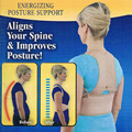 Unisex Adjustable Magnetic Therapy Posture Corrector Brace Shoulder Back Support Belt. Royal Posture Back Support Brace