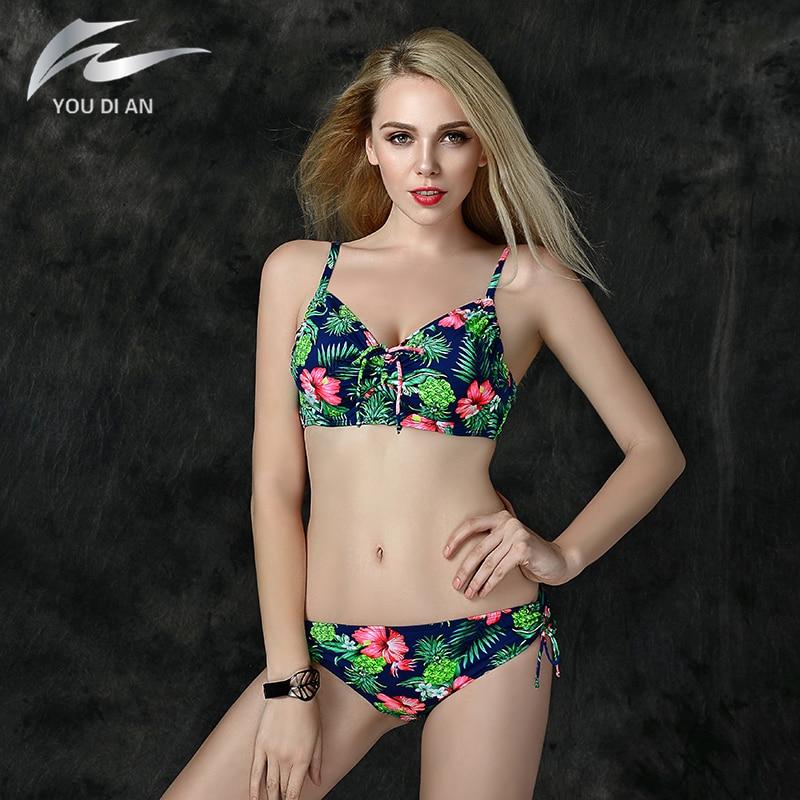 ФОТО 2017 New Summer Bikini Sexy Bikini Swimsuit Beachwear Brazilian Swimwear Women Push Up Bikini Plus Size Bathing Suit