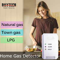 DAYTECH LPG Gas Detector Sensor Gas Leaking Detect LED Flash Alarm Sound Natural Town Gas
