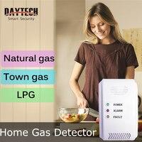 DAYTECH LPG Gas Detector Sensor Gas Leaking Detect LED Flash Alarm Sound Natural Town Gas