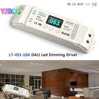 Nieuwe LTECH LT-451-10A DALI Led Dimmen Driver, DALI om PWM LED CV Dimmen Driver; DC12-24V ingang; 10A * 1CH uitgang voor led strip