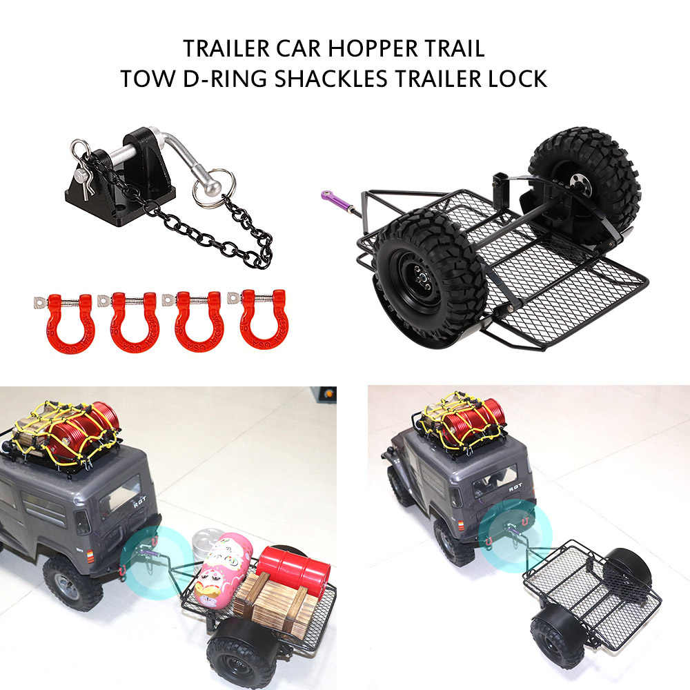 RC Auto Trailer Hopper Trail Tow D-Ring Beugel Trailer Lock voor 1:10 Traxxas HSP Redcat RC4WD Tamiya Axiale SCX10 D90 HPI Crawler
