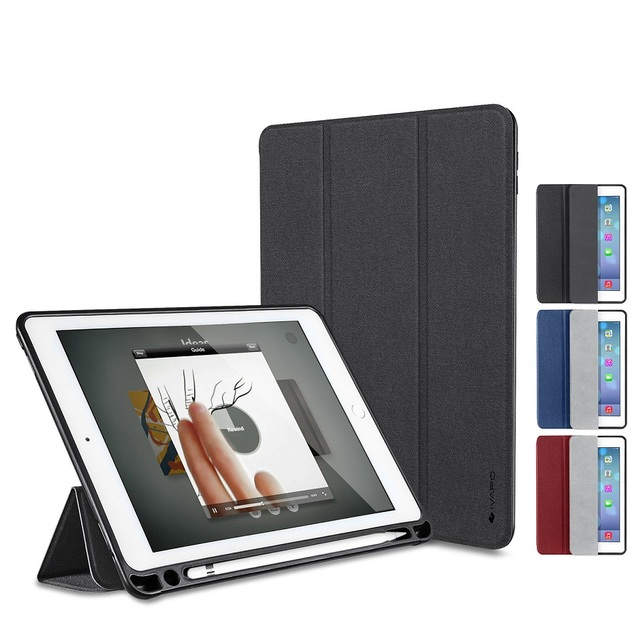 official photos 003f6 b2c61 US $23.99 |iVAPO For iPad Pro 9.7 Case Leather PU Slim Flip Folio Smart  Cover With Pencil Holder For Apple Pencil Stand Auto Sleep/Wake up-in  Tablets ...
