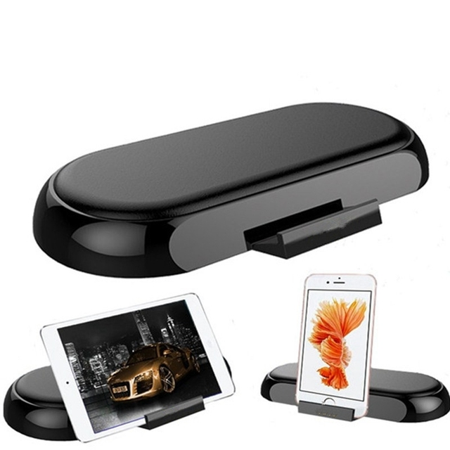 2 In 1 Universal Pu Leather Mobile Phone Holder Charge Mount Fast Charging Portable Desktop