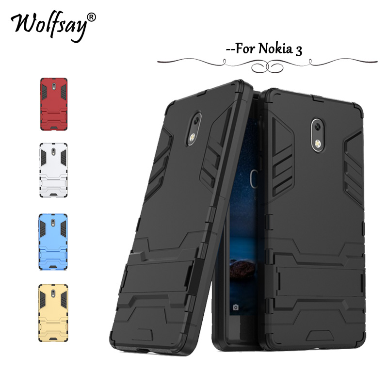 Wolfsay sFor <font><b>Case</b></font> <font><b>Nokia</b></font> <font><b>3</b></font> Cover TA-1020 TA-<font><b>1032</b></font> <font><b>Cases</b></font> Slim Robot Armor Rubber Phone <font><b>Case</b></font> for <font><b>Nokia</b></font> <font><b>3</b></font> Cover sFor Nokia3 Fundas image
