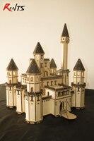 RealTS Европейская классическая модель Замок сказка замок черный доктор деревянная модель DIY игрушки комплект