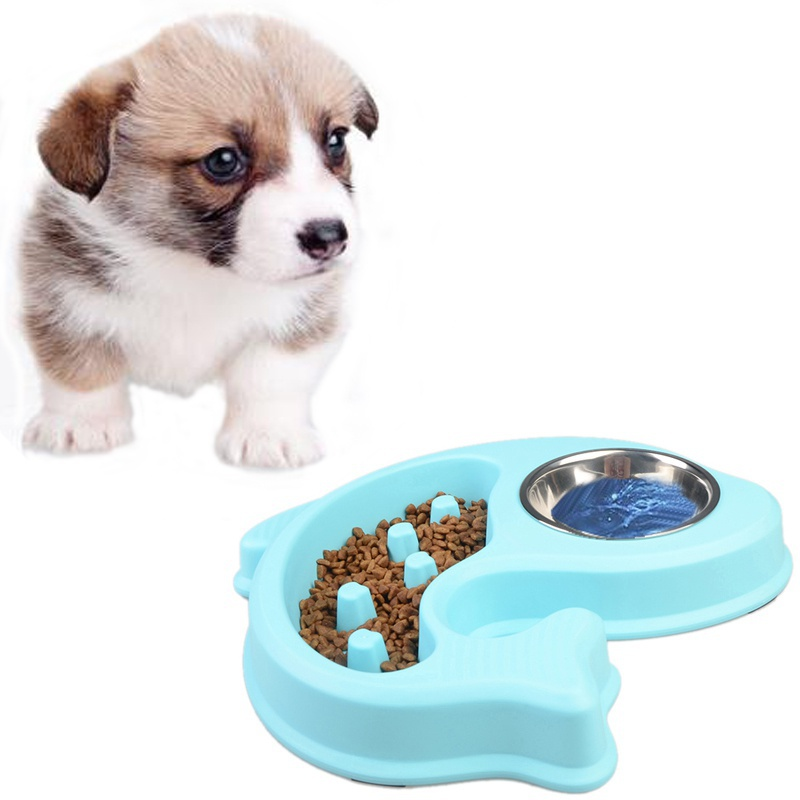 Anti Choke Pet Dog Feeding Food Bowls Puppy Slow Down Eating Feeder Dish Bowel Prevent Obesity Dogs Supplies