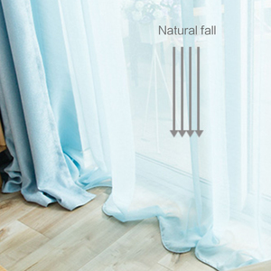 Image 3 - European Tulle Curtains Sheer Curtains For Living Room Kids Bedroom Voile Romantic Window Curtain Tie Backs White Green   Drapes