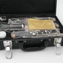 Высокое качество ABS бакелит черного дерева Bb кларнет Ключ C посеребренный YMH YCL250 модель с Жесткий Чехол