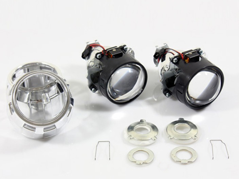 LHD 2.5 MINI HID BIXENON PROJECTOR LENS FOR H1 BULB CAR GIFT:CHROME SHROUND [QP381] lhd