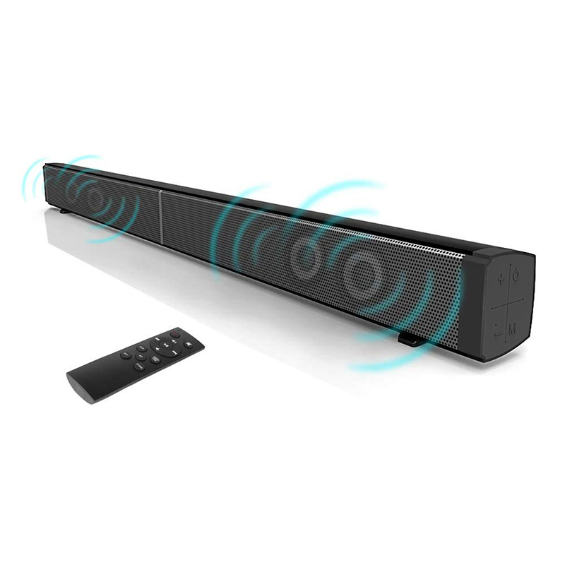 Soundbar with Bluetooth Fiber Optics for TV, Optical Audio Wall Mounted 32 inch Wireless Sound Bar with Amplified Home Theatre